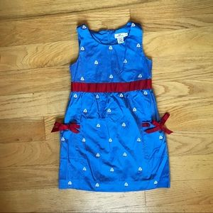 Vineyard Vines blue sailboat dress